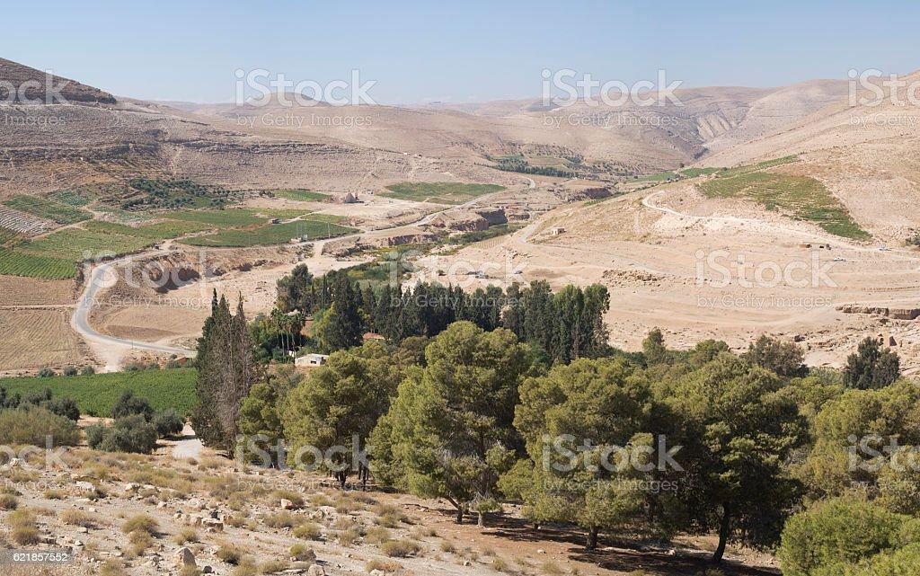 Landscape of the Jordan valley stock photo