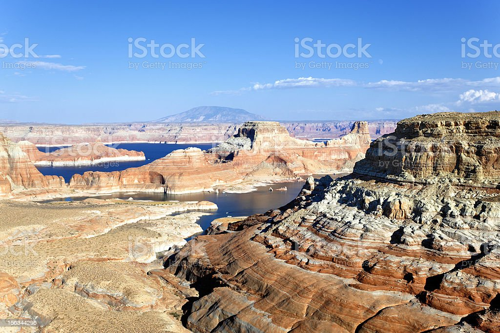 landscape of the lake Powell stock photo
