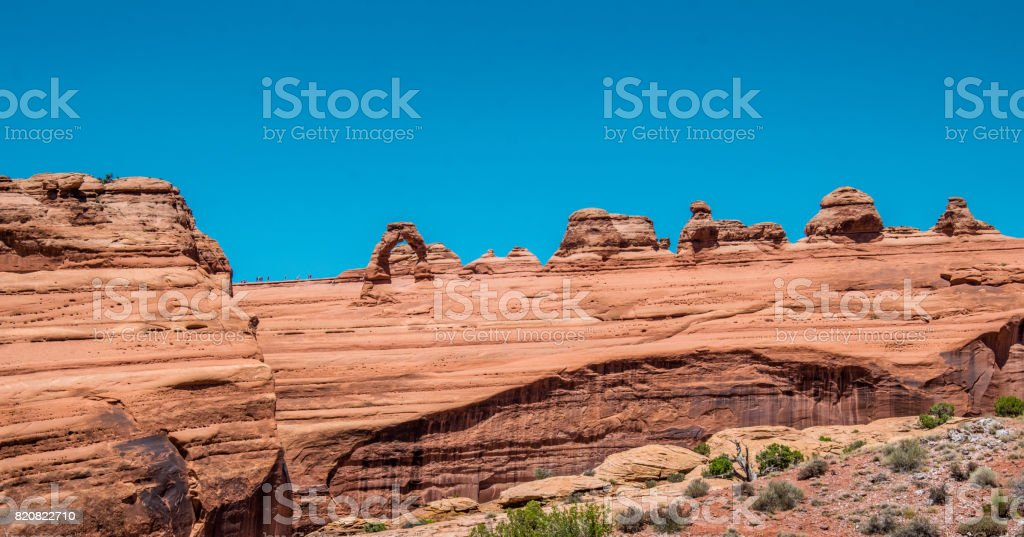 landscape of the Moab desert. Delicate arch. Arches National Park, Utah stock photo