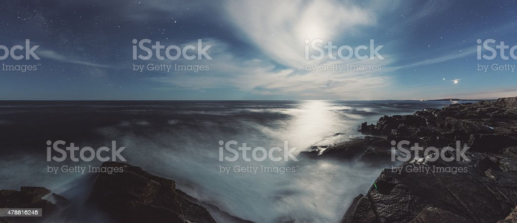 Landscape of the Night stock photo