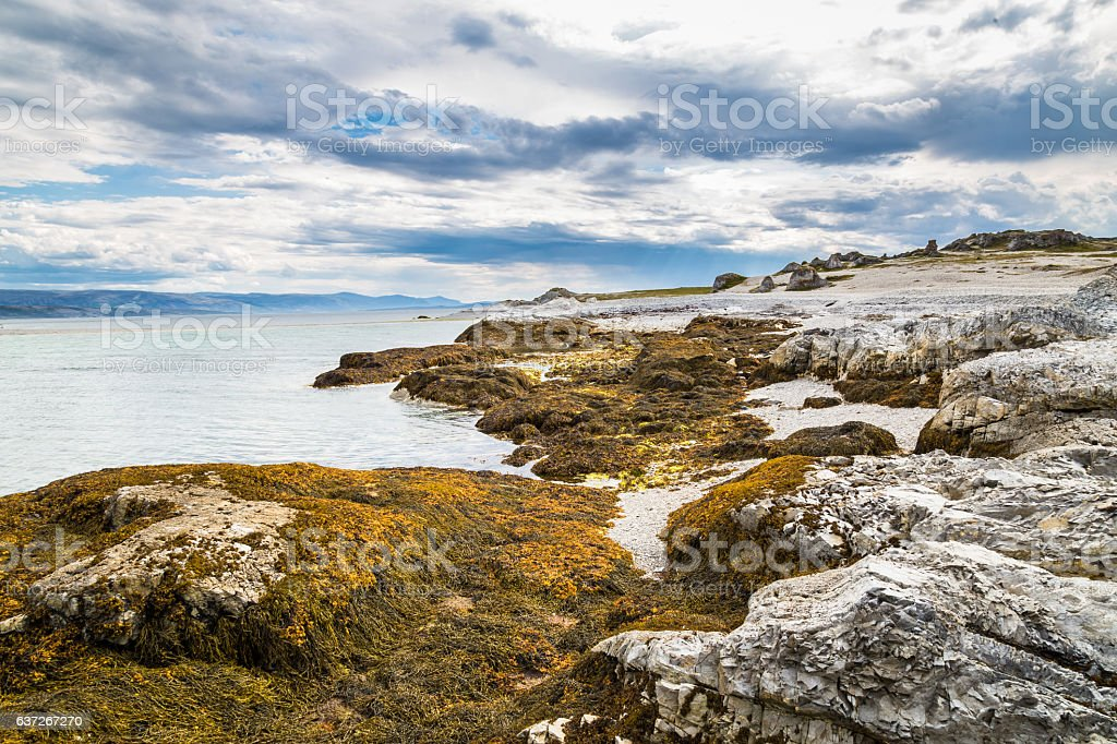 Landscape of the north-east coast of Finnmark in Norway stock photo