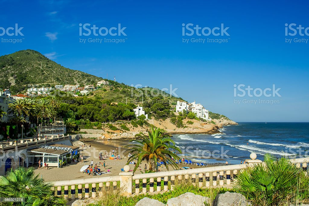 Landscape of the seashore stock photo
