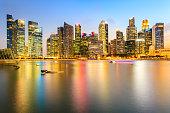 Landscape of the Singapore financial district