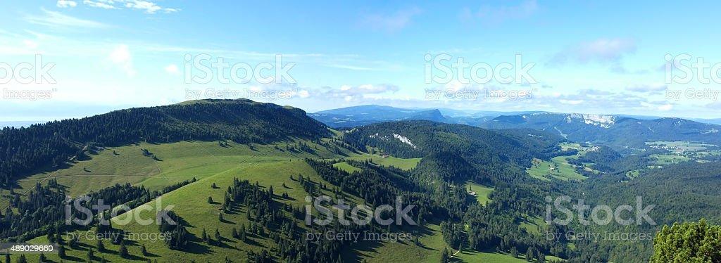 Landscape of the Swiss Jura stock photo