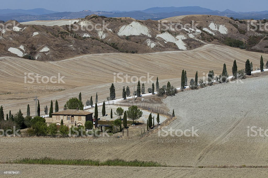 landscape of the  Tuscany royalty-free stock photo