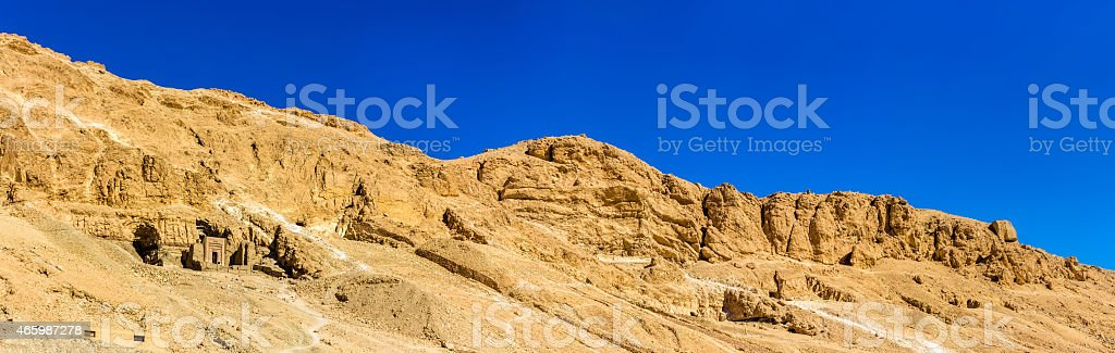 Landscape of the Valley of the Kings - Egypt stock photo