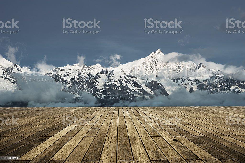 landscape of tibet stock photo