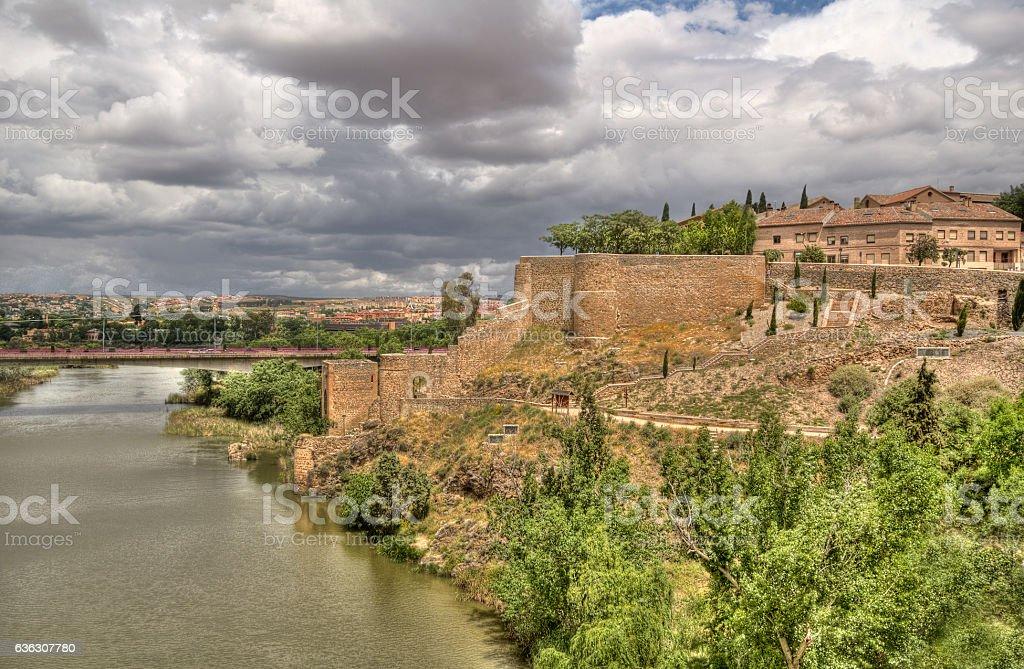 Landscape of Toledo, Spain stock photo
