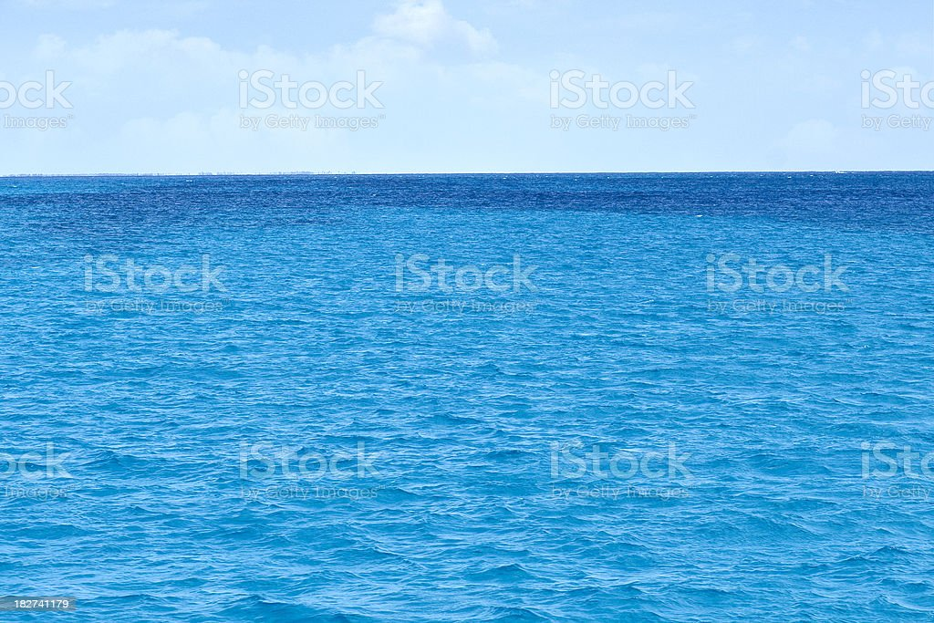 Landscape of Tropical Blue Water Ocean stock photo