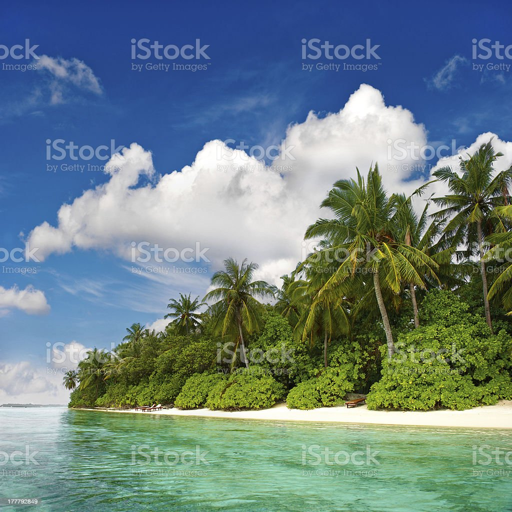 landscape of tropical island beach royalty-free stock photo