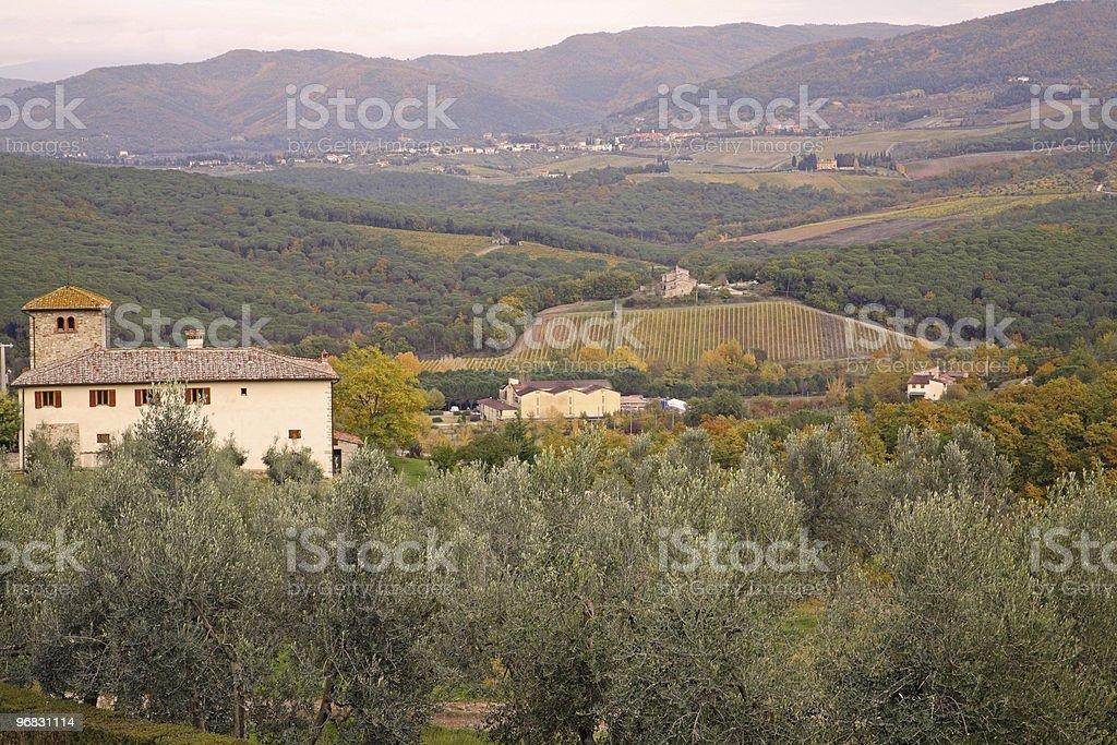 Landscape of Tuscany Fall stock photo