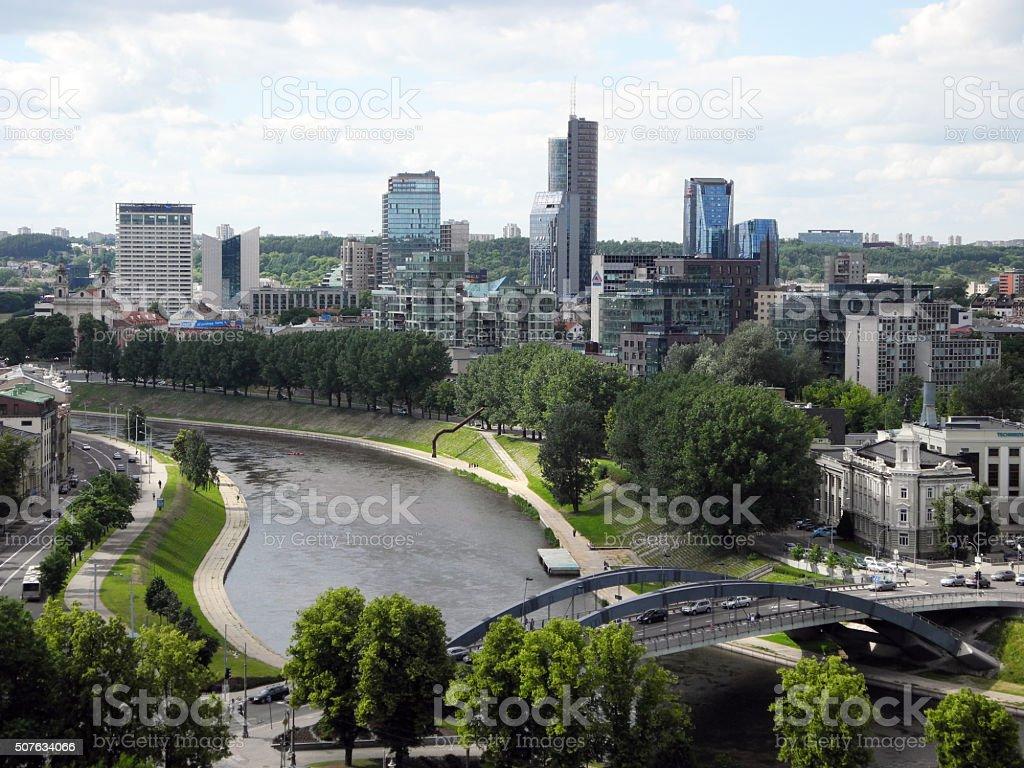 Landscape of Vilnius, Lithuania. stock photo