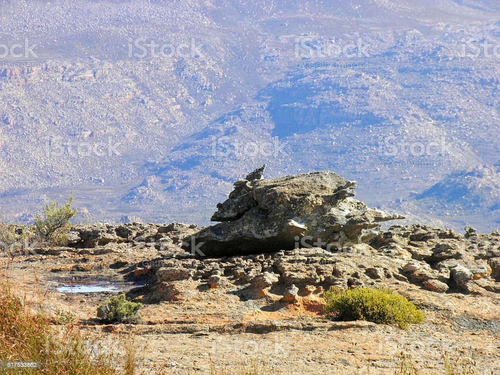 Landscape of Wolfberg Cracks in Cederberg nature reserve, South stock photo