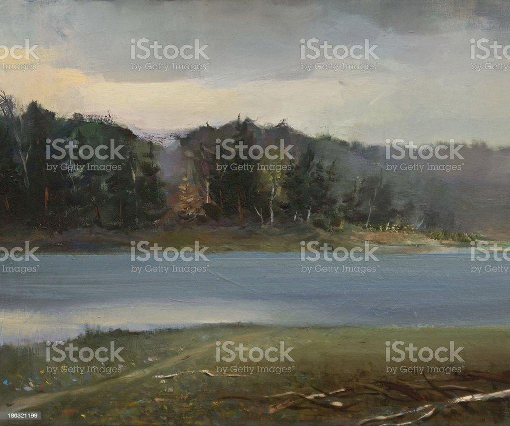 Landscape Oil Painting stock photo