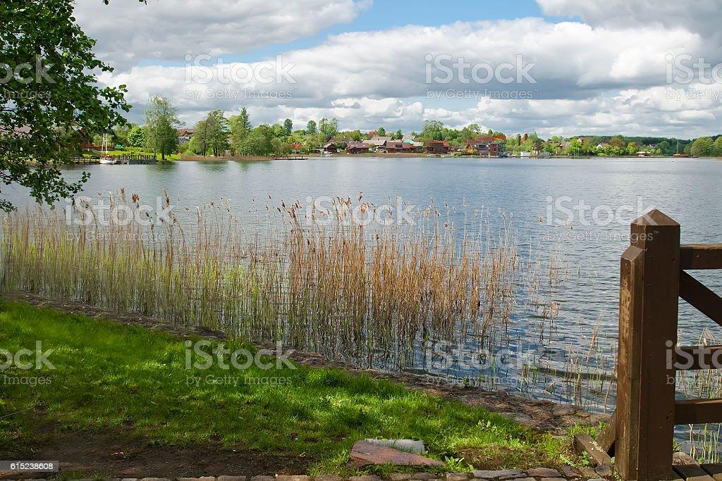 Landscape on Lake Galve stock photo