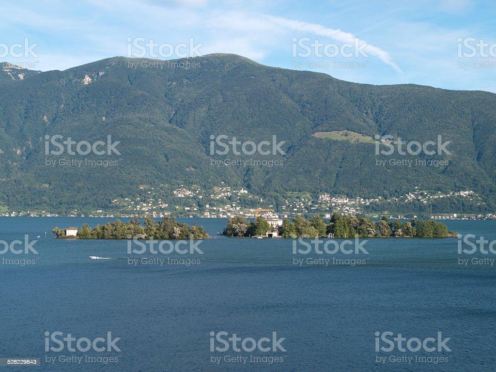 Landscape on lake maggiore stock photo
