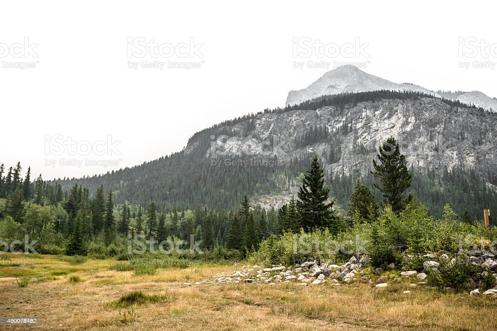 landscape on the Banff National Park - Canada stock photo