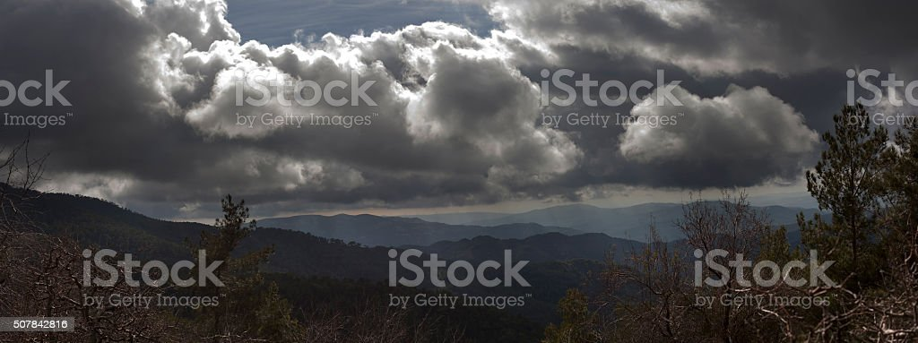 landscape on the island of Cyprus. stock photo