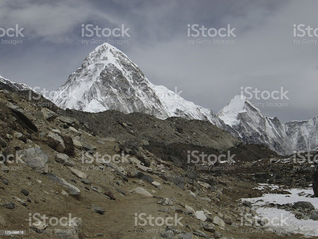 Landscape on the way to Everest Base Camp royalty-free stock photo