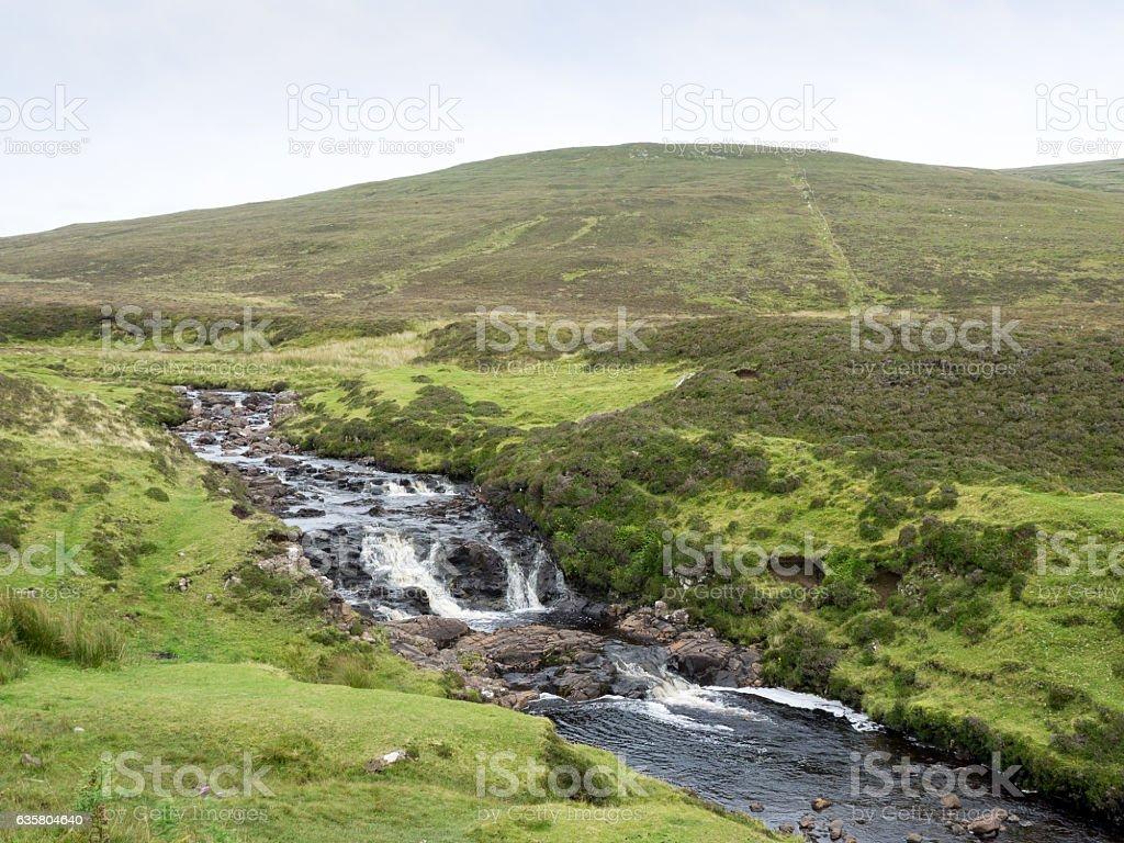 Landscape on Trotternish penisnula, Scotland stock photo