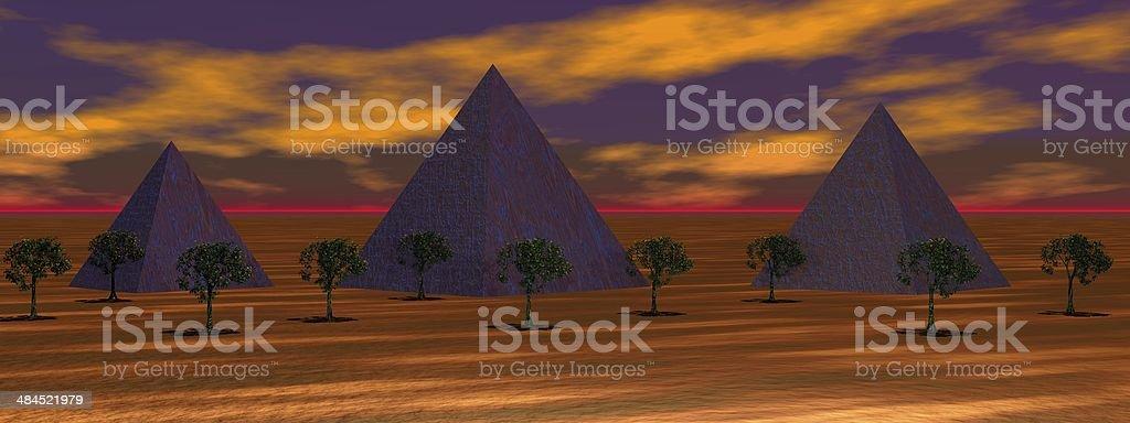 landscape orange royalty-free stock photo