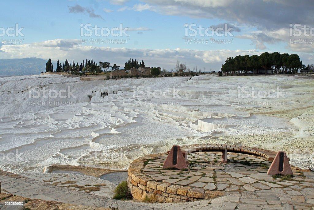 landscape, pamukkale, turkey, denizli stock photo