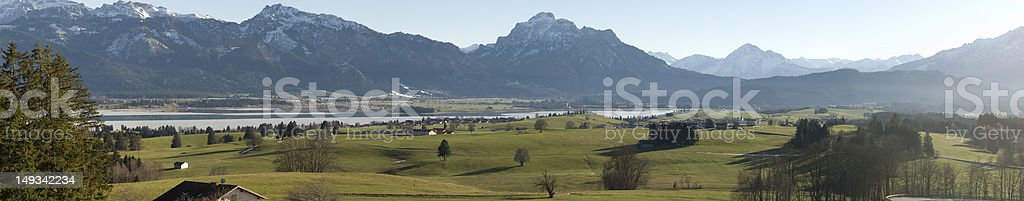 Landscape Panorama Allg?u - Neuschwanstein royalty-free stock photo