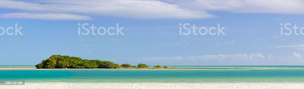 Landscape panorama of a Tropical island stock photo