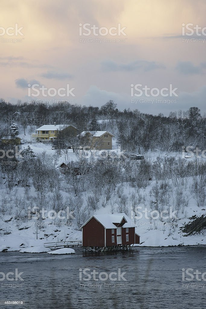 A landscape photo from Norway, North of the Polar Circle royalty-free stock photo