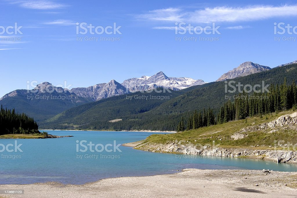 Landscape photograph of Abraham Lake, Alberta, Canada royalty-free stock photo