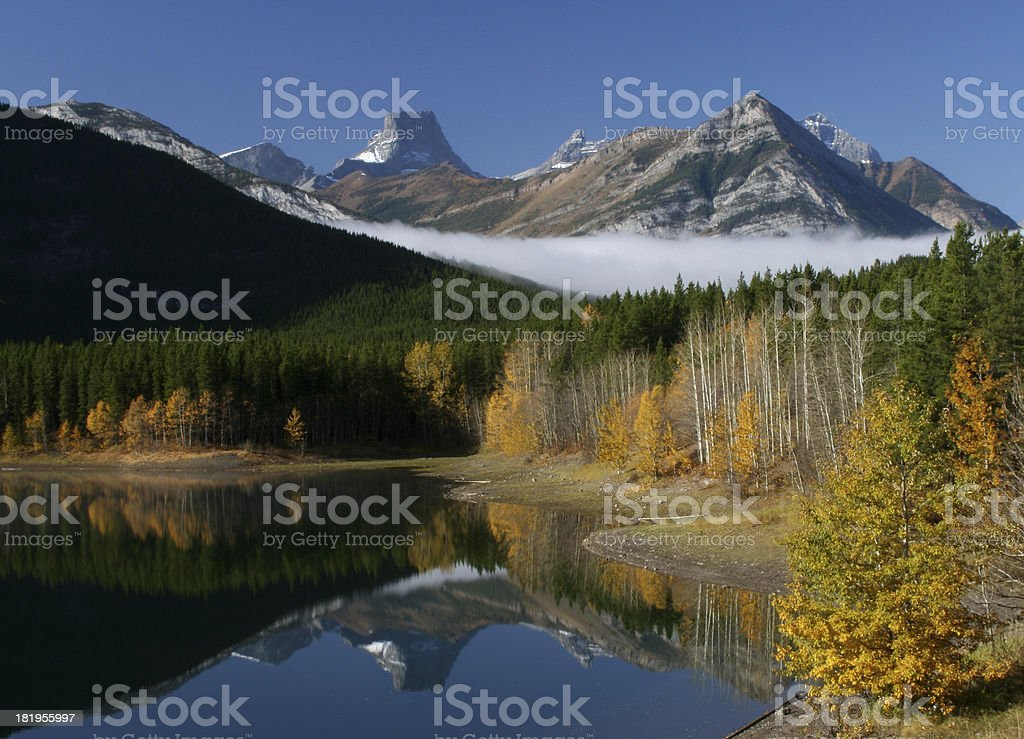 Landscape photograph of Canadian Rockies stock photo