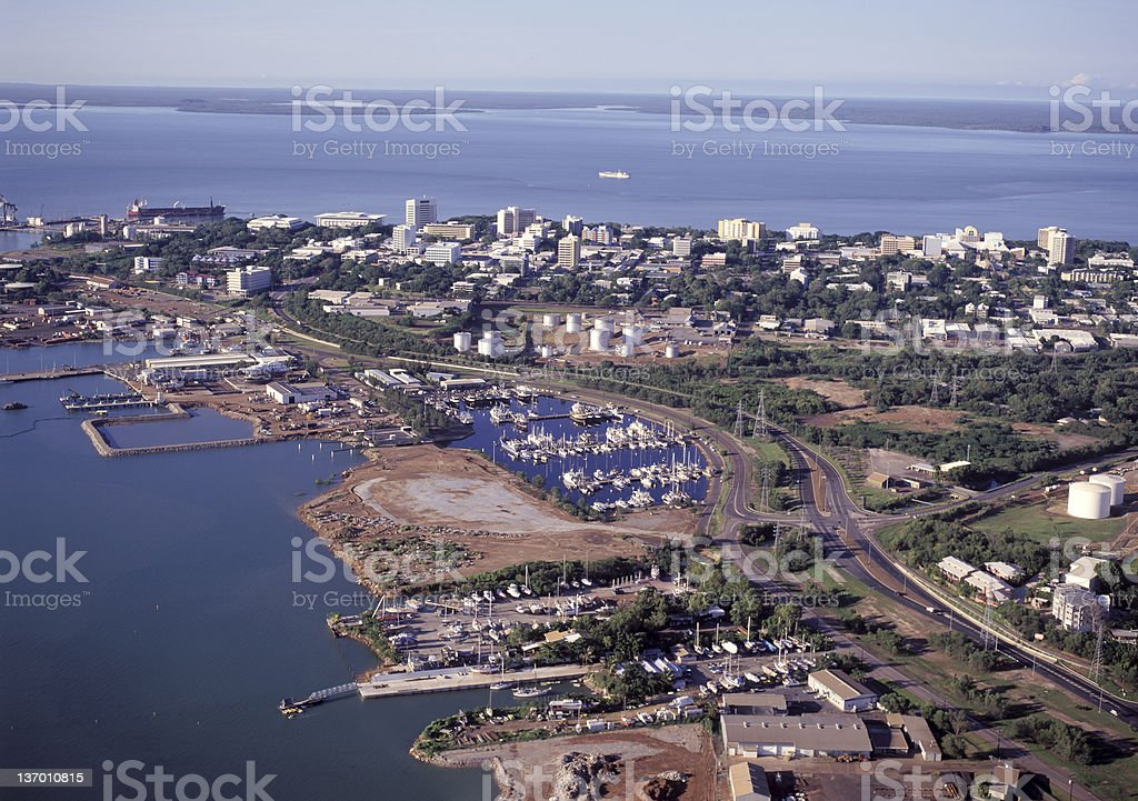 A landscape photograph of the City of Darwin stock photo