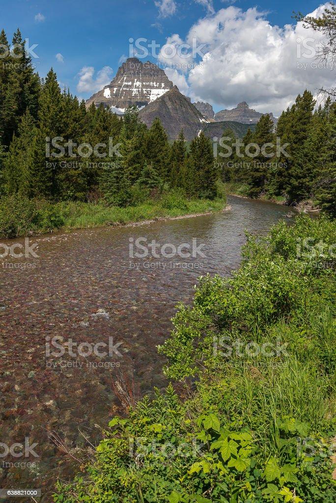 Landscape photography of Glacier National Park USA stock photo