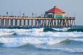 A landscape picture of Huntington Beach Pier