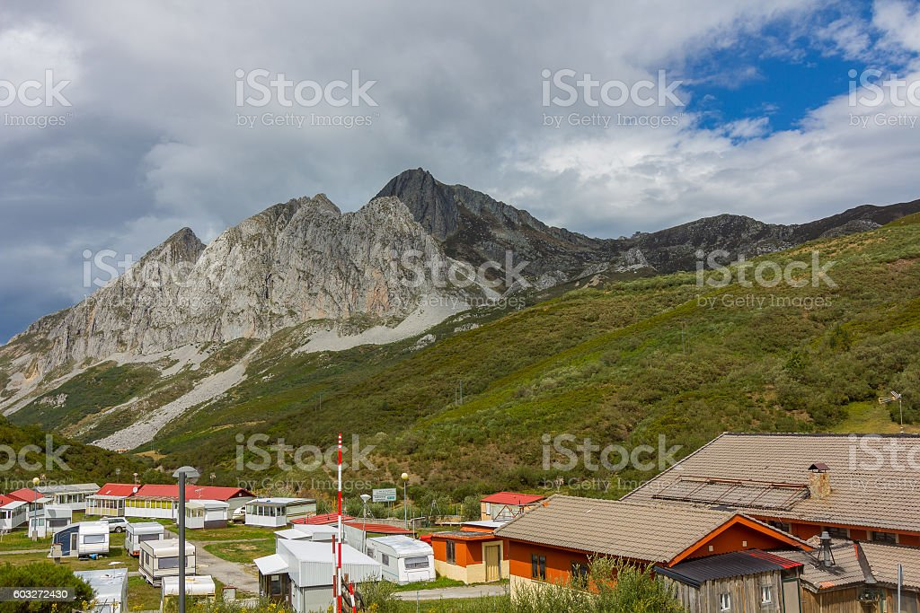 Landscape Port of San Isidro in Asturias, Spain stock photo