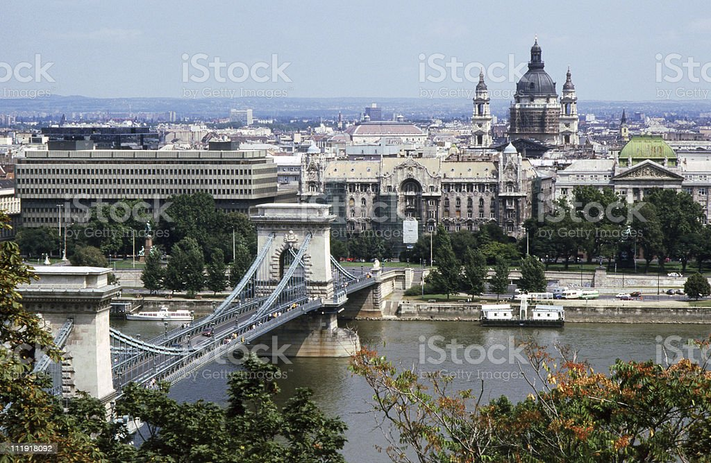 Landscape portrait of Budapest, Hungary  royalty-free stock photo
