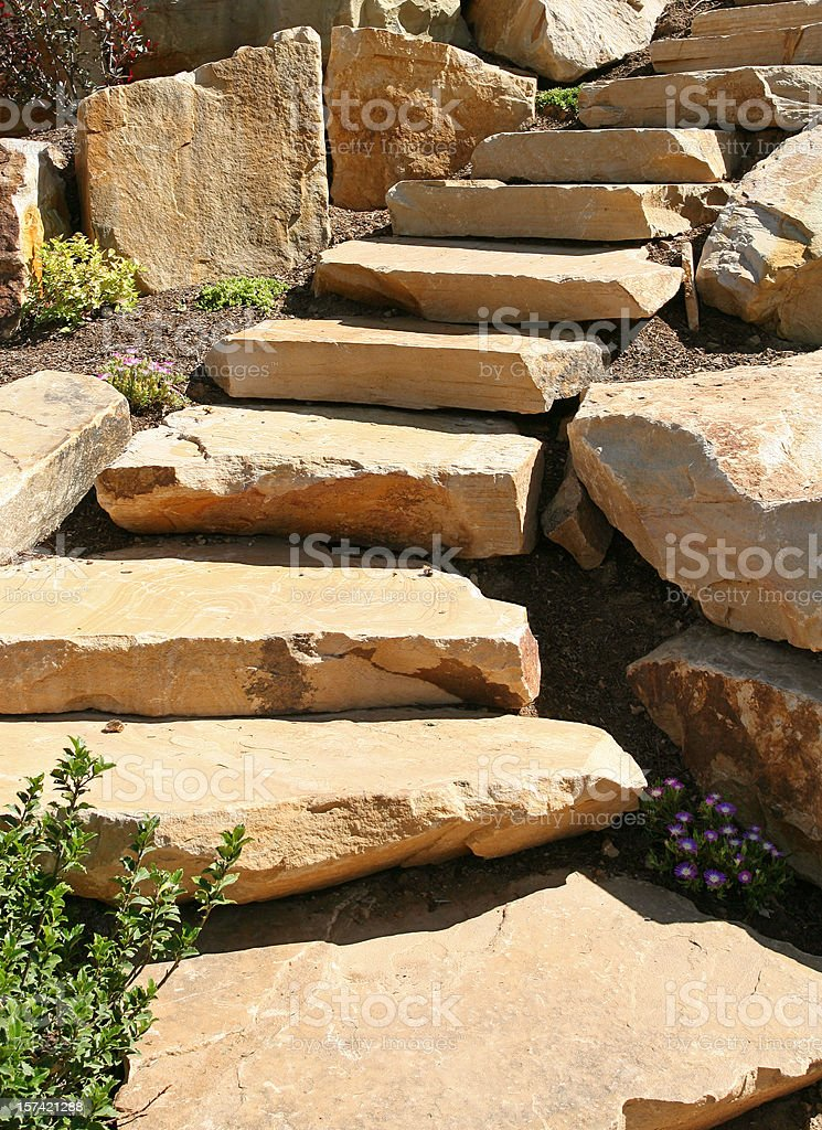 Landscape- Rock Stairs royalty-free stock photo