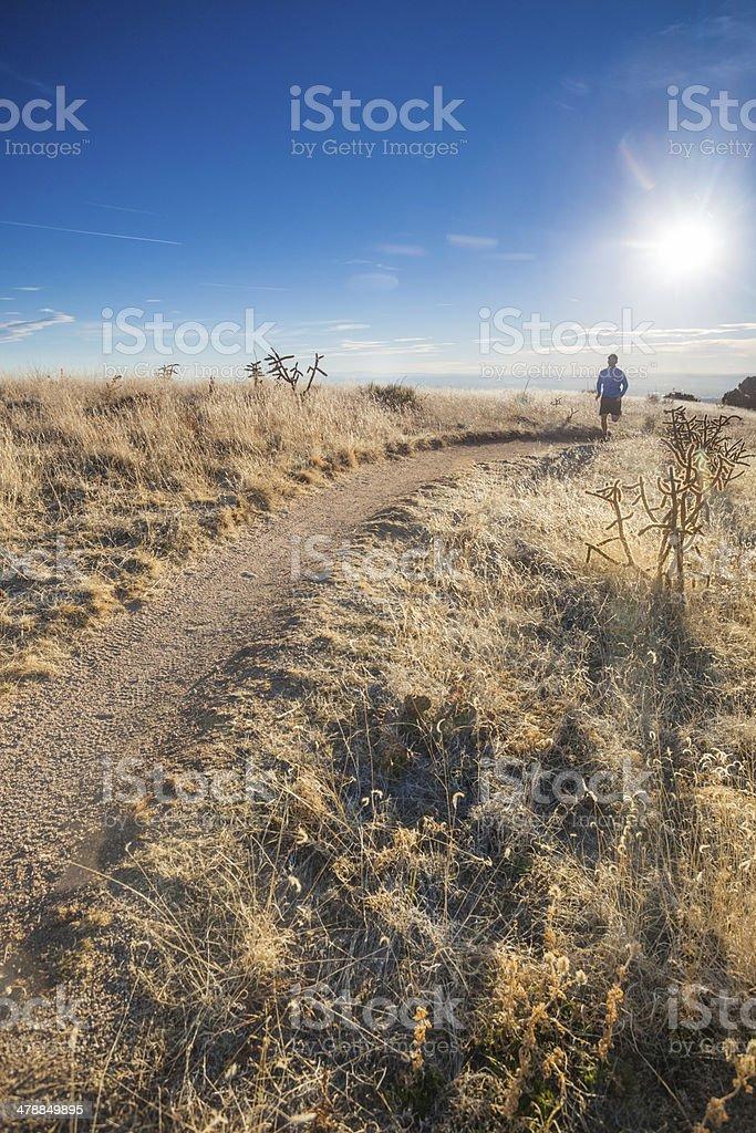 landscape runner royalty-free stock photo