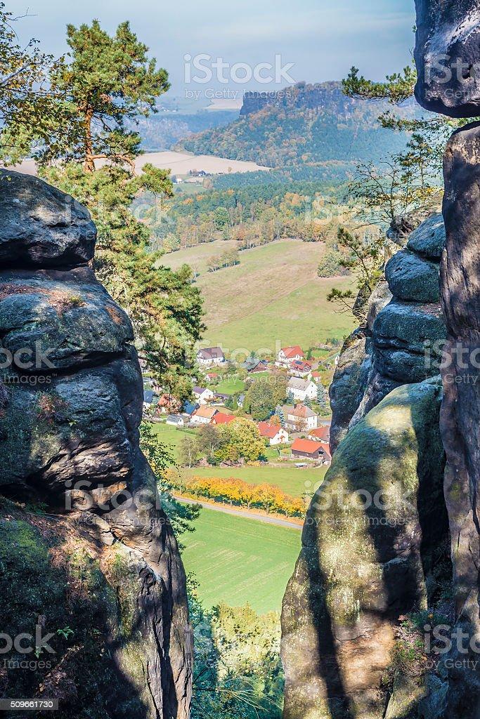 Landscape Saxon Switzerland stock photo