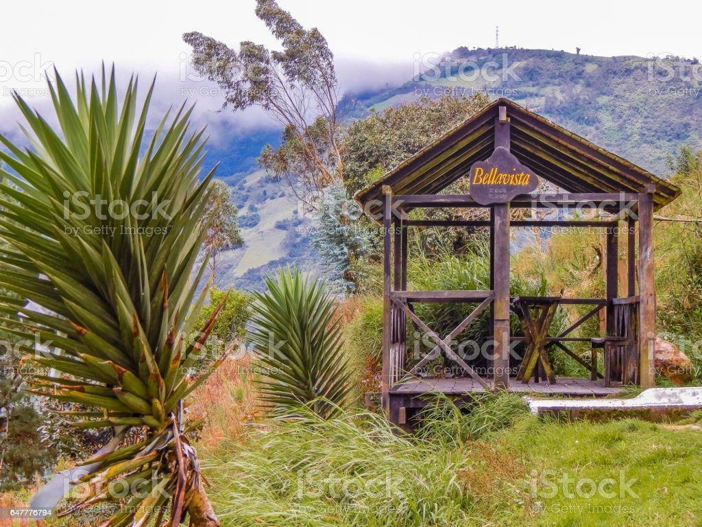 Landscape Scene at Highs Banos Ecuador stock photo