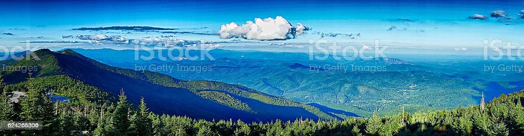 landscape scenic views at isgah national forest stock photo