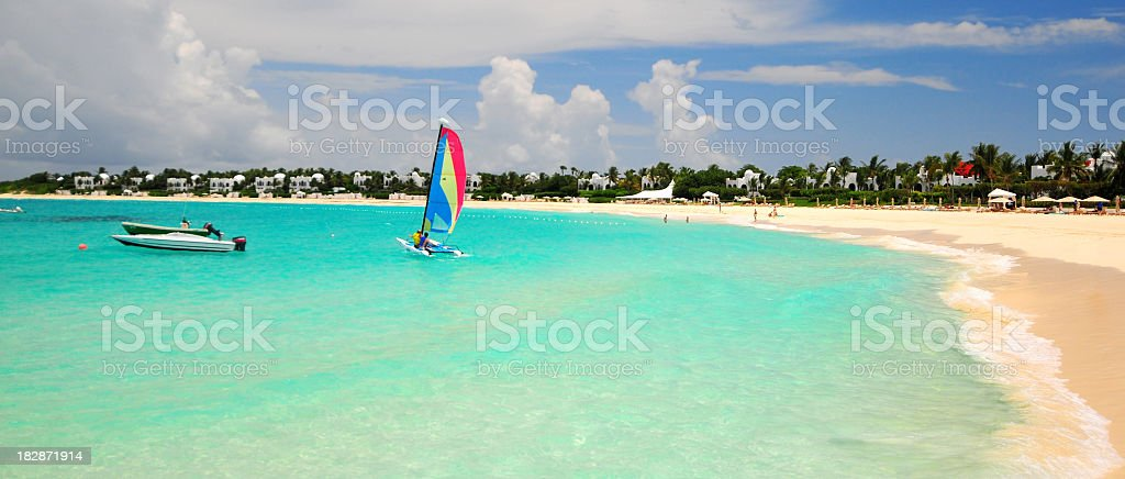 Landscape shot of Anguilla Beach stock photo