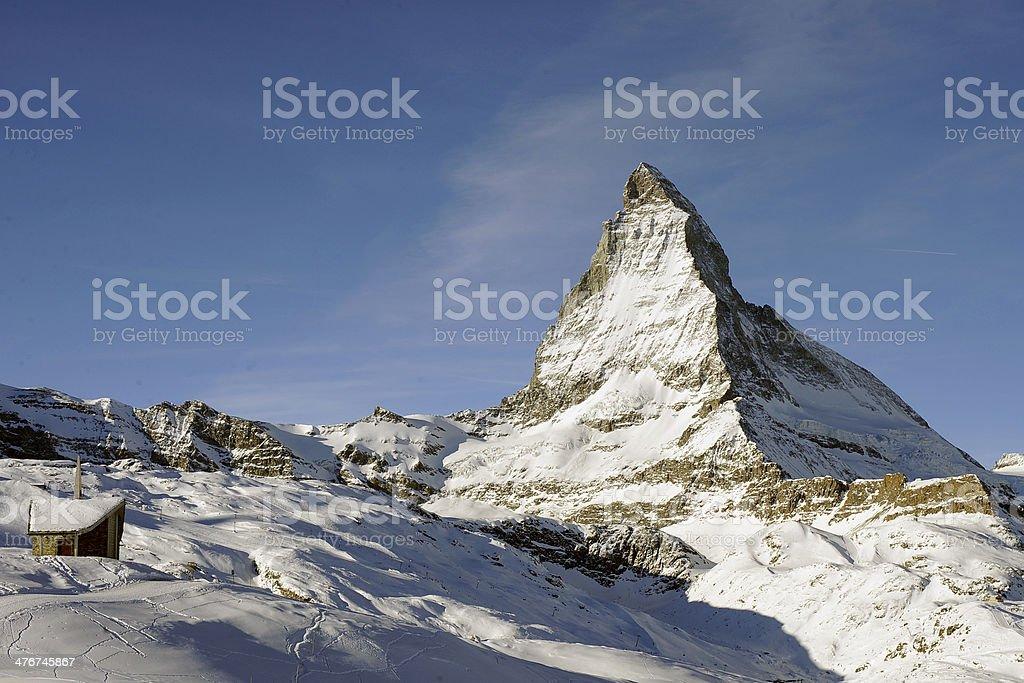 Landscape Shot Of The Matterhorn Mountains Switzerland royalty-free stock photo