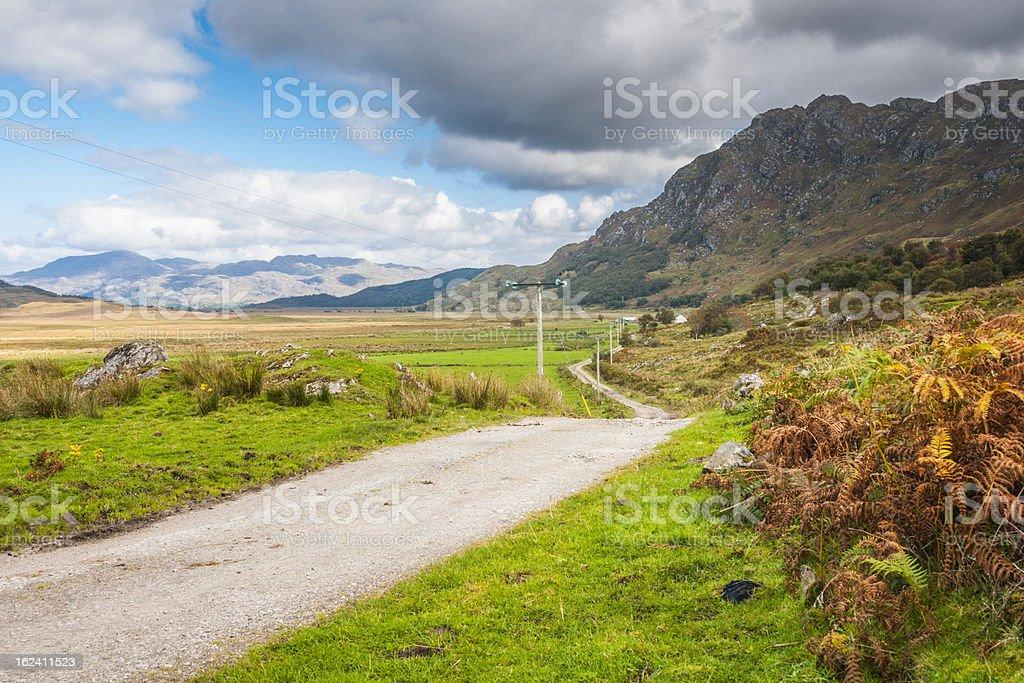 Landscape, Single track road, Kinloid to Loch Morar stock photo