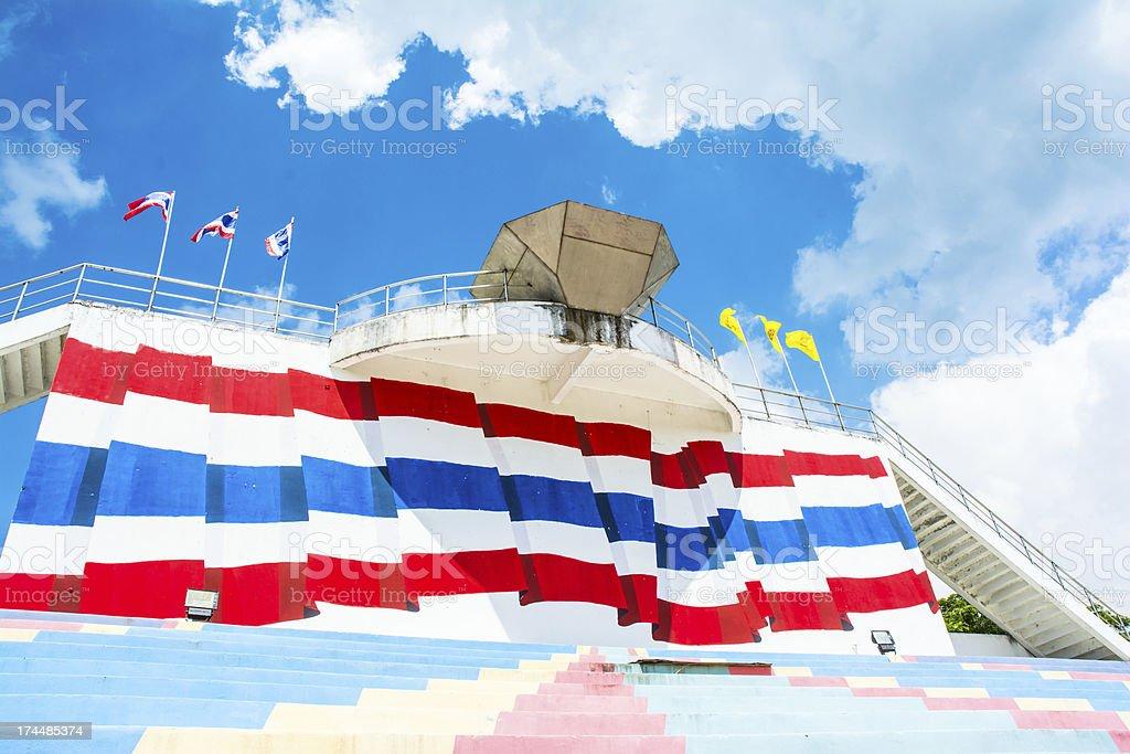 landscape stadium seat sport of thailand royalty-free stock photo