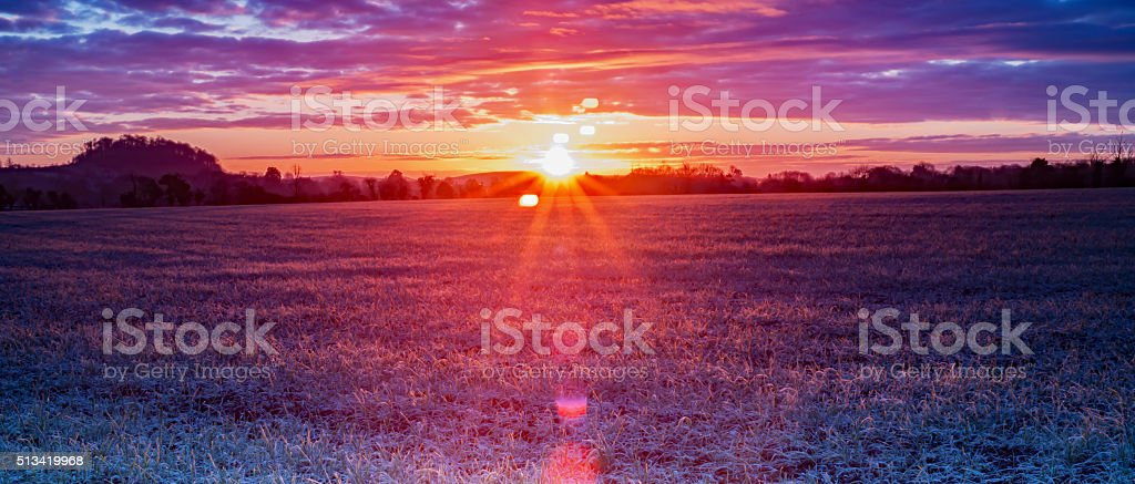 Landscape - sunrise stock photo