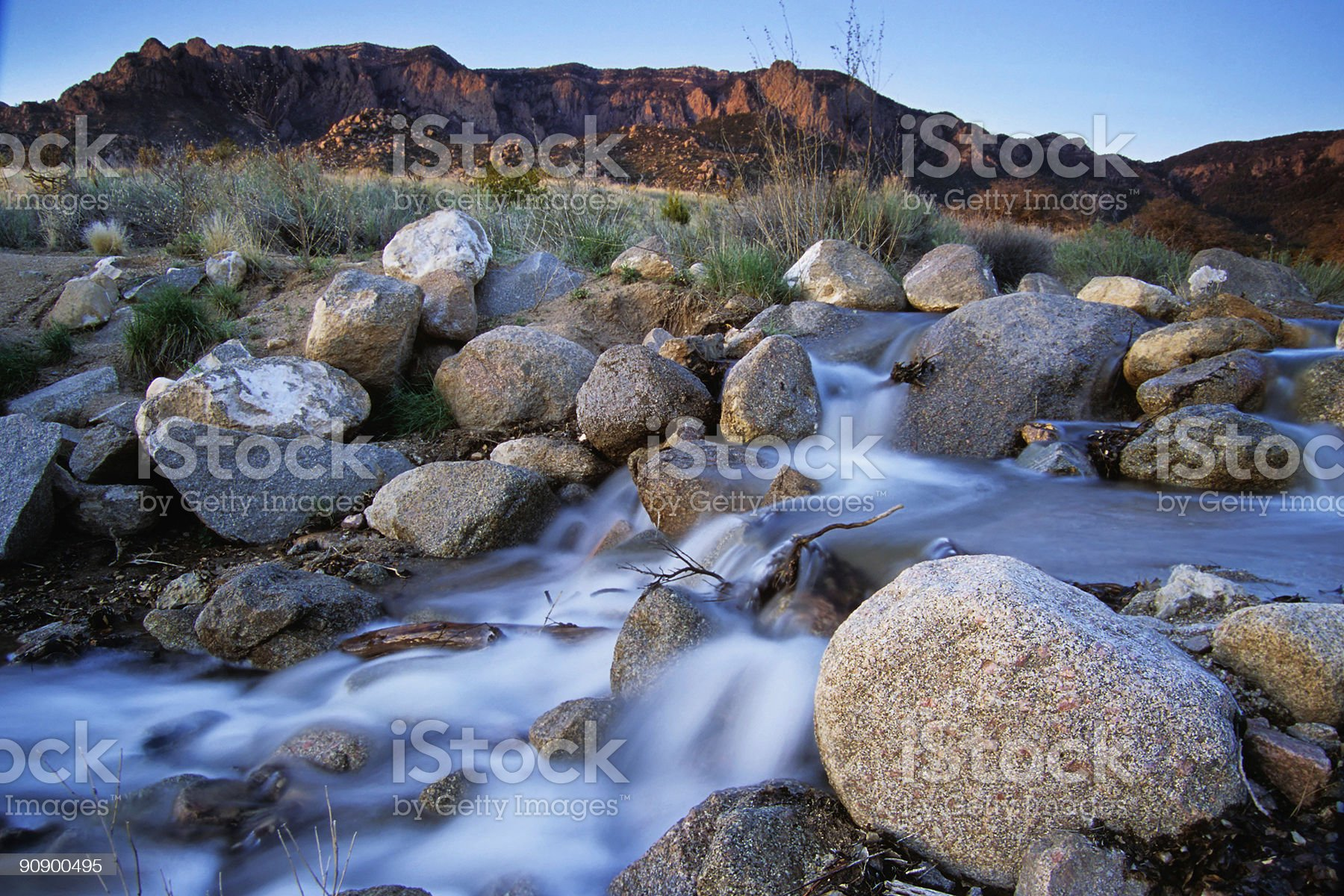 landscape sunset mountain river royalty-free stock photo