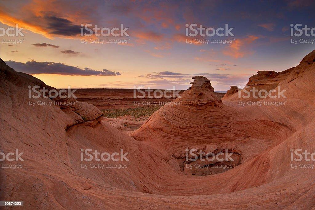 landscape sunset sandstone rock formations royalty-free stock photo