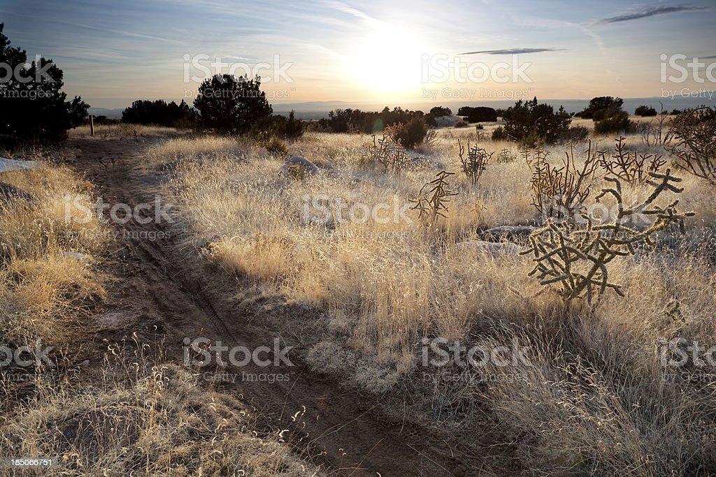 landscape sunset trail stock photo
