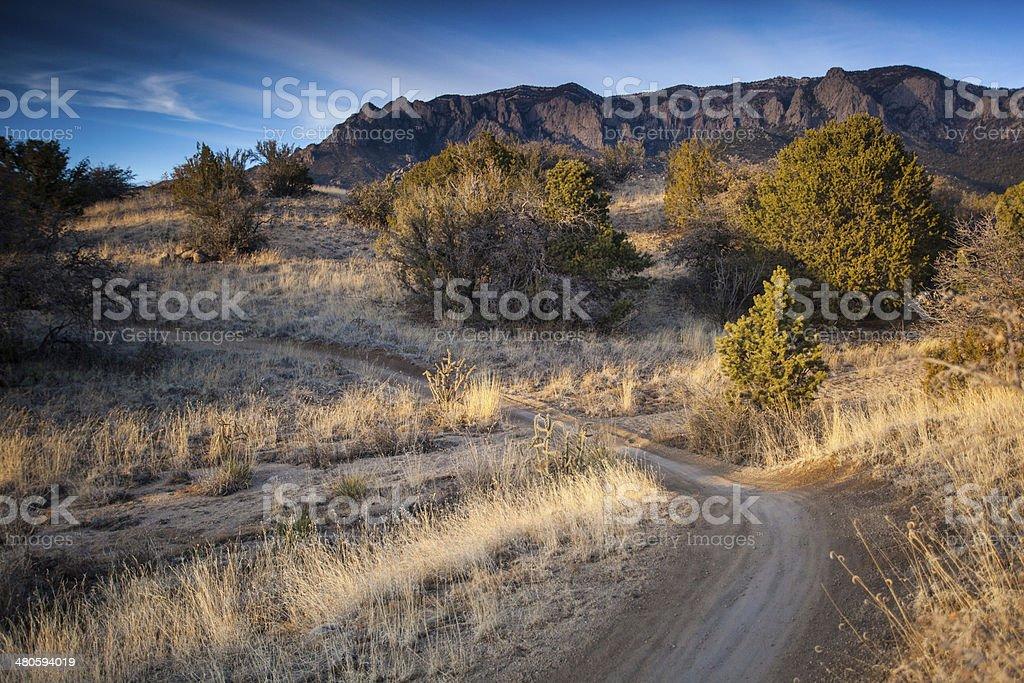 landscape sunset trail royalty-free stock photo